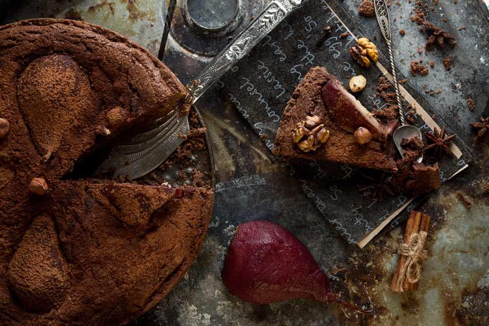 La ricetta della torta al vino rosso