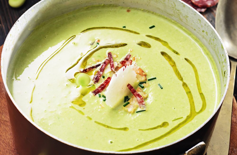 Creamed Fava Beans with Chicory Recipe